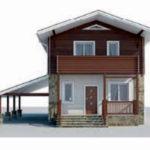 проект дома AS-2303 вид спереди
