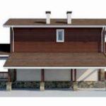 проект дома AS-2303 вид слева