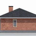 проект дома AS-2288 вид сзади