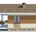 проект дома AS-2142 вид справа