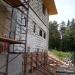 фасадные работы, облицовка подвального помещения
