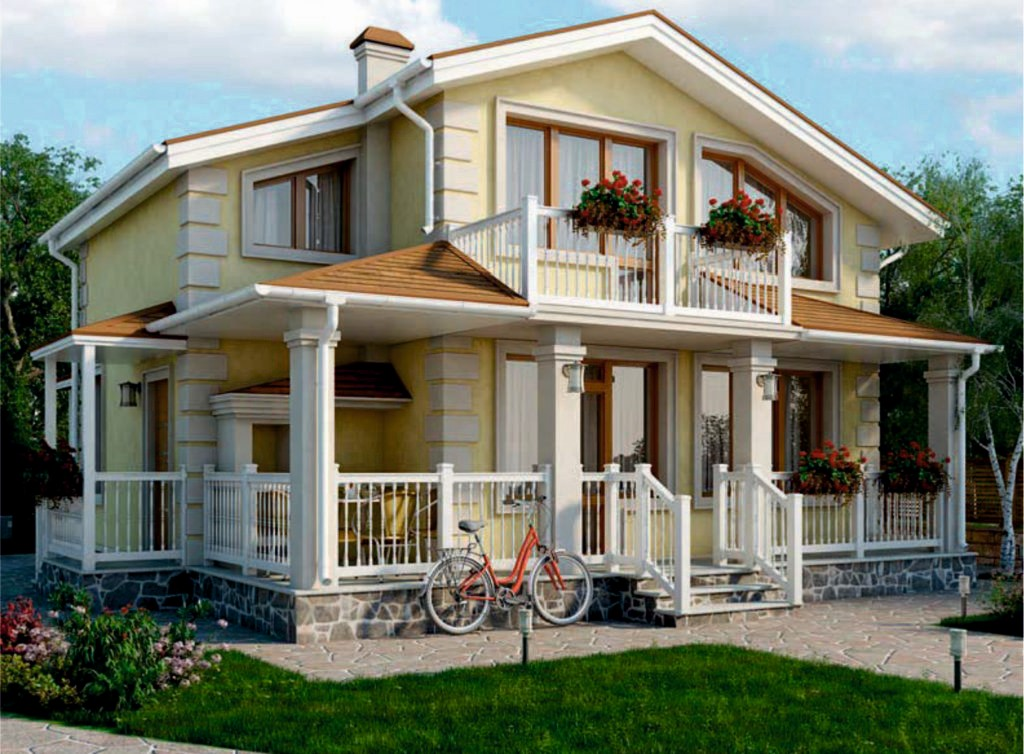 проект дома из газобетона AS-2195 строительство под ключ за 1 640 000 рублей