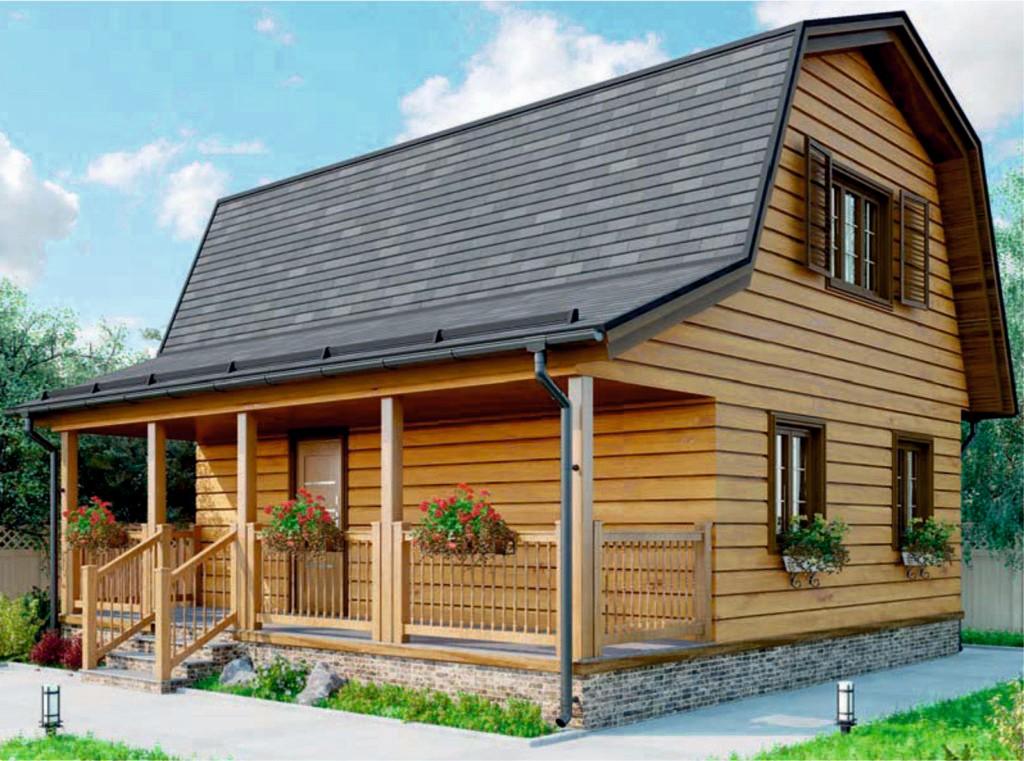 проект дома из газобетона AS-2216 строительство под ключ за 1 290 000 рублей