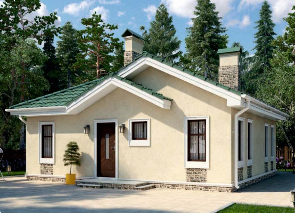 проект дома из газобетона AS-2236 строительство под ключ за 1 690 000 рублей