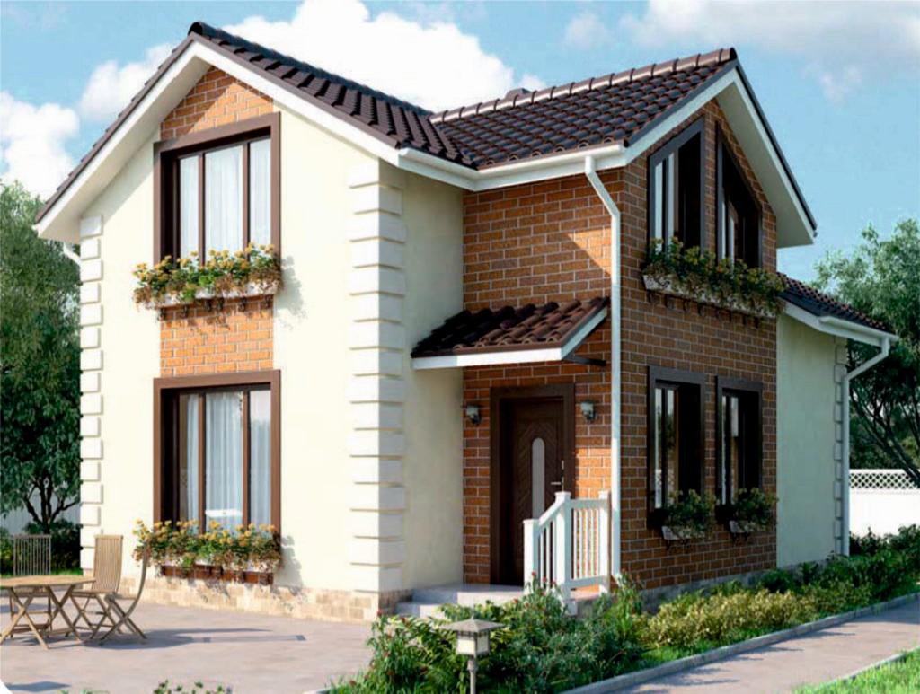 проект дома из газобетона AS-2051 строительство под ключ за 1 480 000 рублей