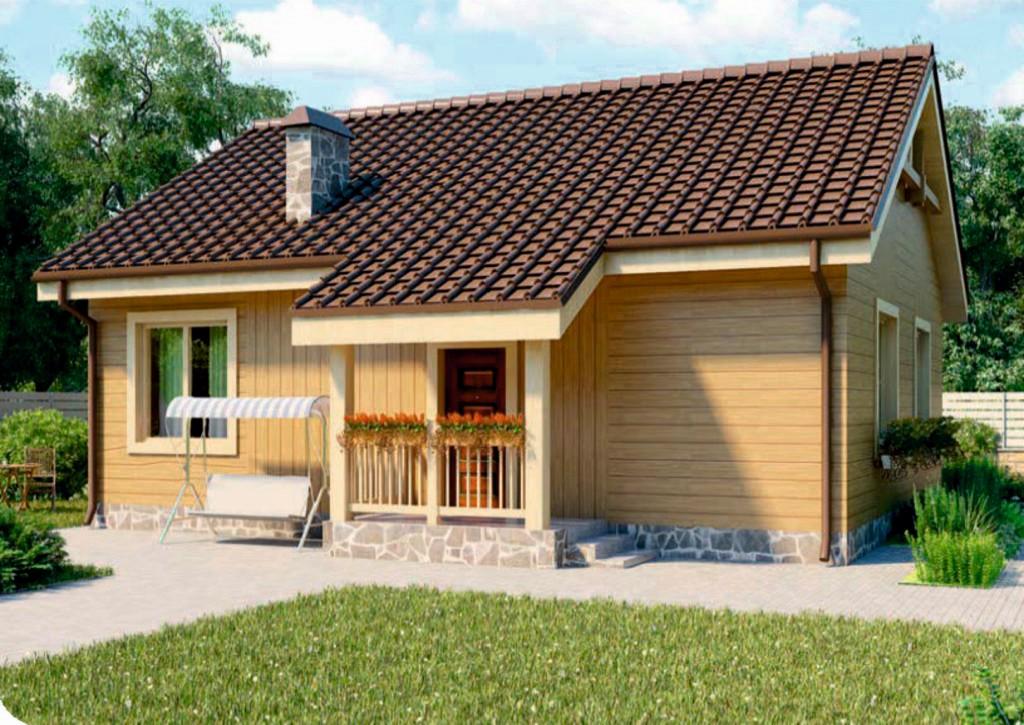 проект дома из газобетона AS-2054 строительство под ключ за 1 340 000  рублей