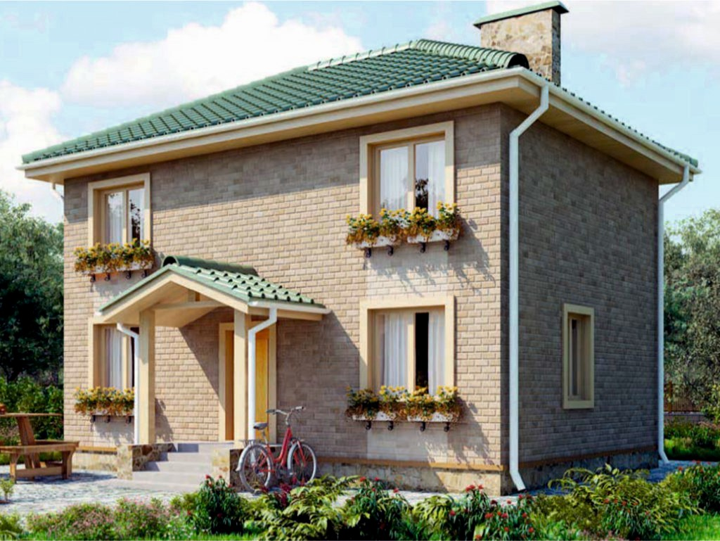 проект дома из газобетона AS-2095-2 строительство под ключ за 1 710 000 рублей