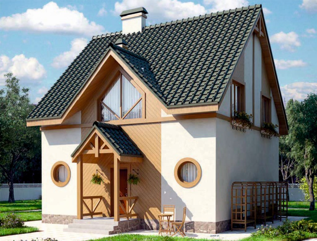 проект дома из газобетона AS-2046 строительство под ключ за  1 900 000 рублей