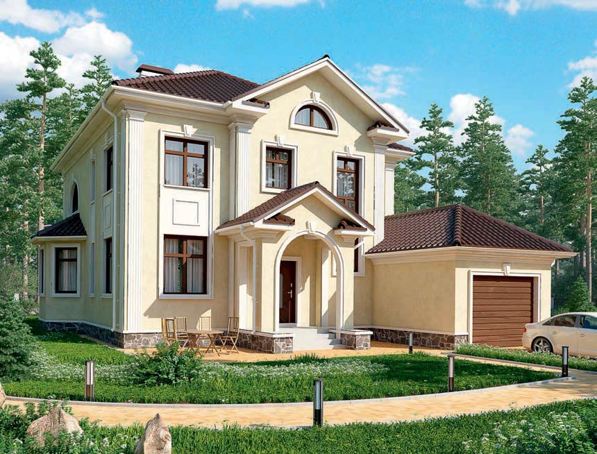 проект дома из газобетона AS-1383 строительство под ключ за 3 690 000 рублей