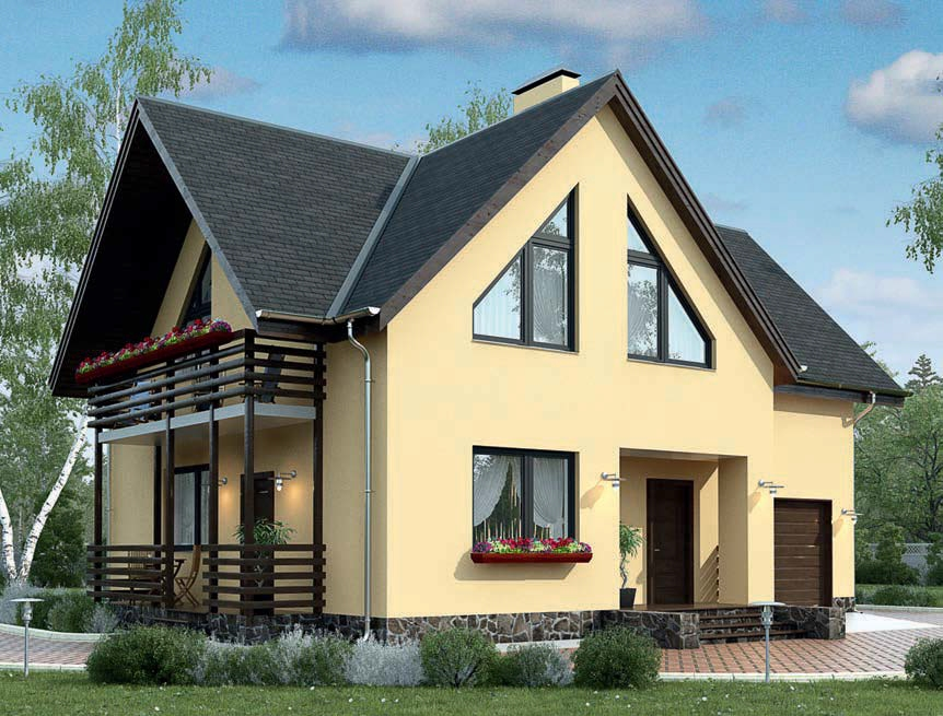 проект дома из газобетона AS-186-2 строительство под ключ за 2 510 000 рублей