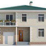 проект дома AS-2014 вид спереди