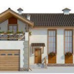 проект дома AS-2031 вид спереди