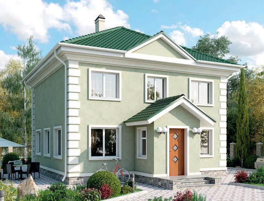 проект дома из газобетона AS-2035-2 строительство под ключ за 2 560 000 рублей
