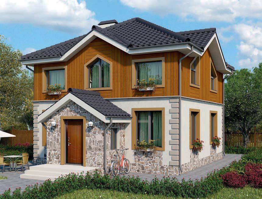 проект дома из газобетона AS-2035 строительство под ключ за 2 250 000 рублей
