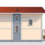 проект дома AS-2063 вид сзади