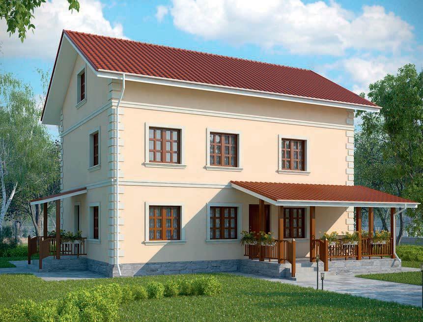 проект дома из газобетона AS-2063 строительство под ключ за 3 050 000 рублей
