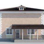 проект дома AS-2073 вид сзади