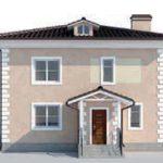 проект дома AS-2073 вид спереди