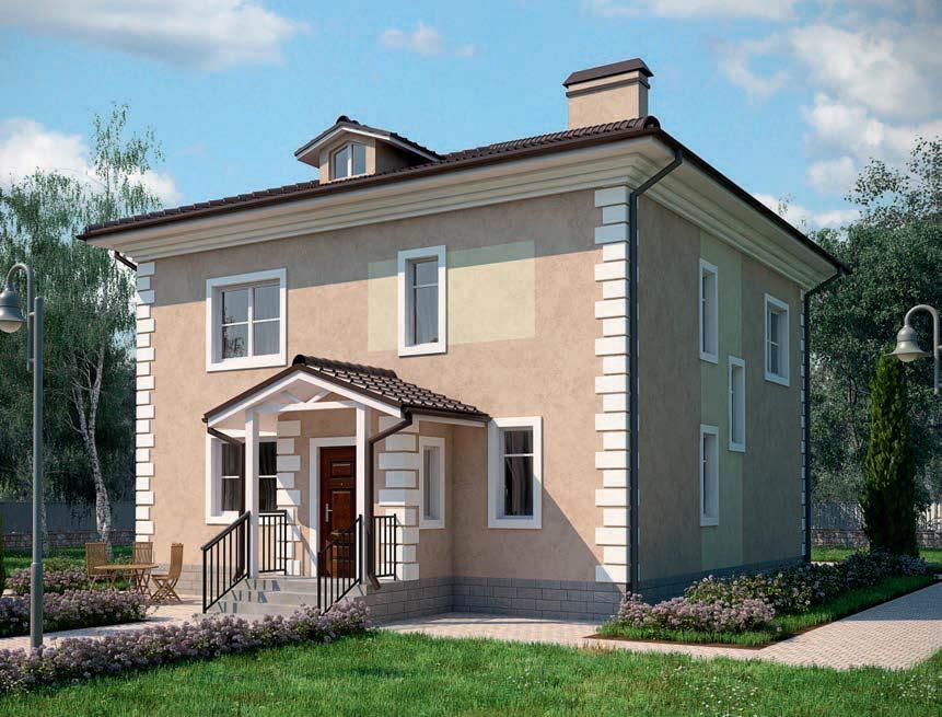 проект дома из газобетона AS-2073 строительство под ключ за 2 870 000 рублей