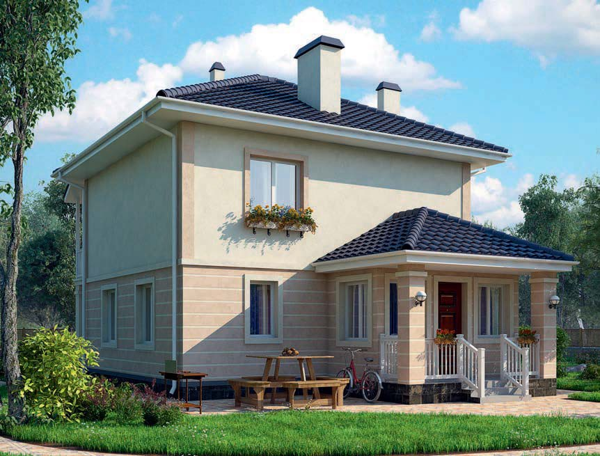проект дома из газобетона AS-2075 строительство под ключ за 1 980 000 рублей