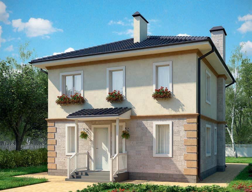 проект дома из газобетона AS-2078 строительство под ключ за 2 330 000 рублей