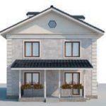проект дома AS-2079 вид сзади