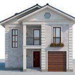 проект дома AS-2079 вид спереди