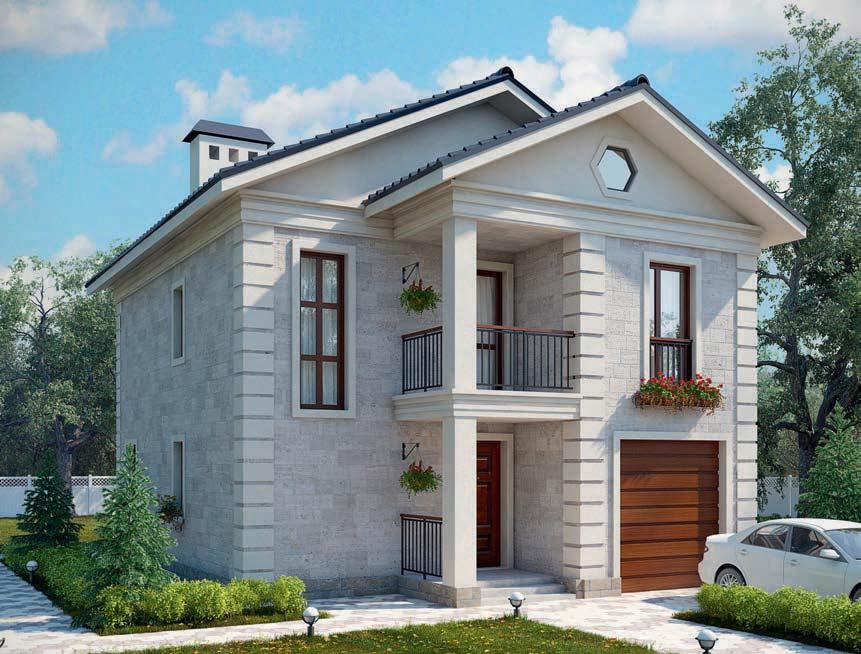 проект дома из газобетона AS-2079 строительство под ключ за 2 520 000 рублей