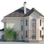 проект дома AS-2085 вид сзади