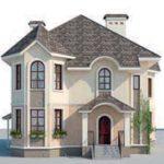 проект дома AS-2085 вид спереди