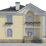 проект дома AS-2107 вид сзади