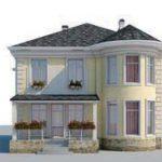 проект дома AS-2107 вид спереди