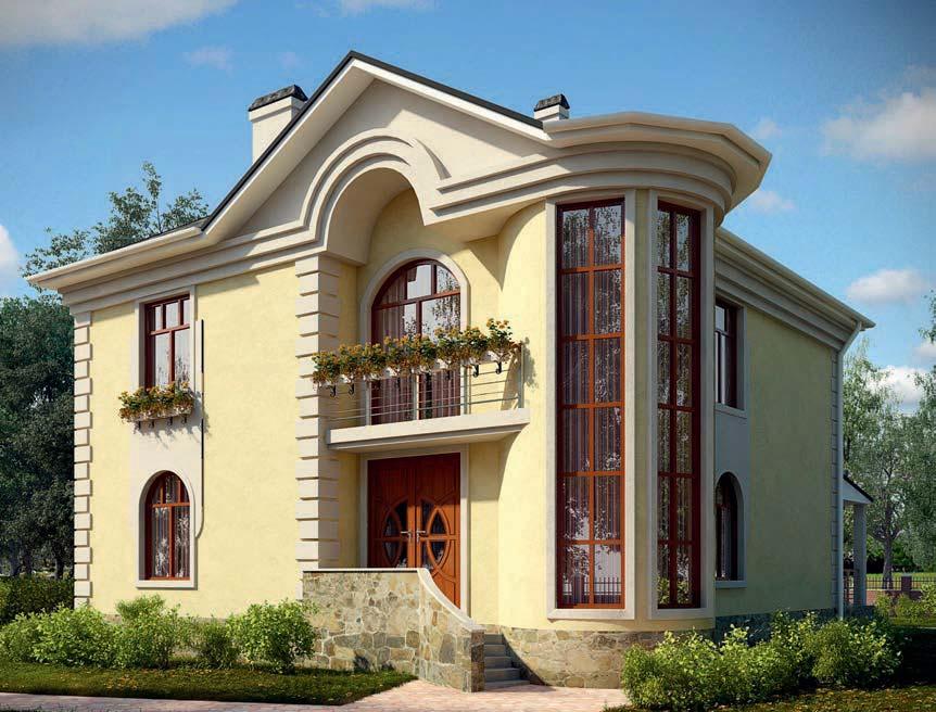 проект дома из газобетона AS-2107 строительство под ключ за 3 810 000 рублей