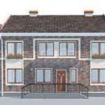 проект дома AS-2108-4 вид сзади