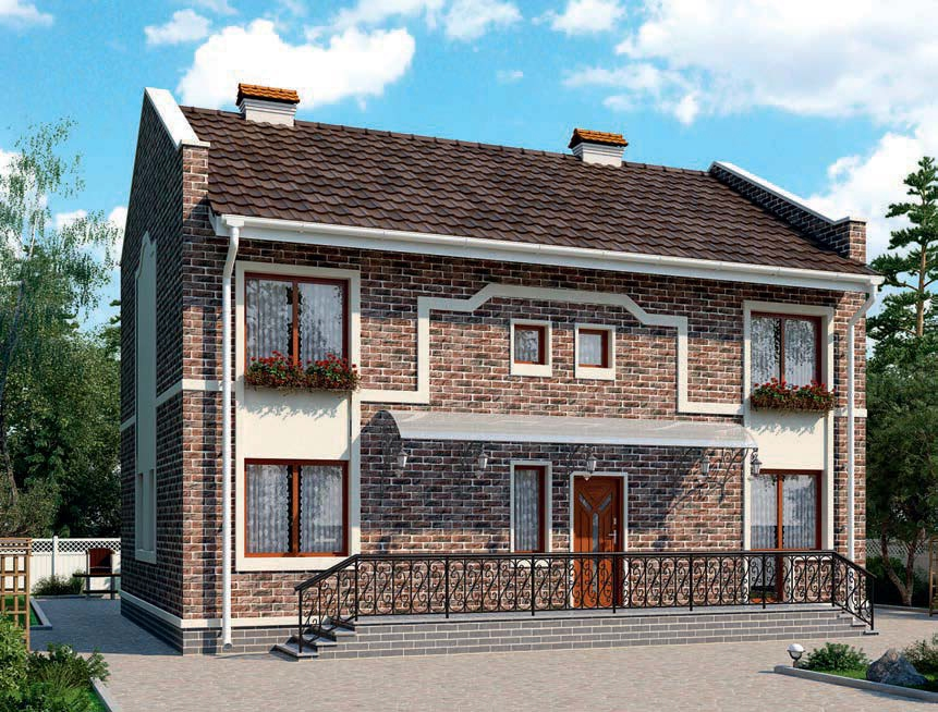 проект дома из газобетона AS-2108-4 строительство под ключ за 3 640 000 рублей