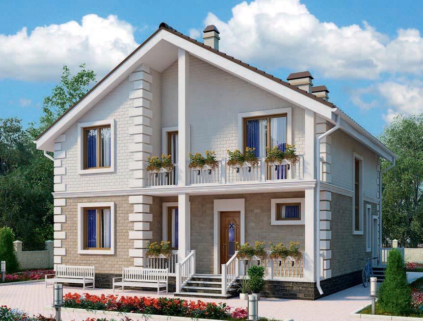 проект дома из газобетона AS-2110 строительство под ключ за 2 560 000 рублей