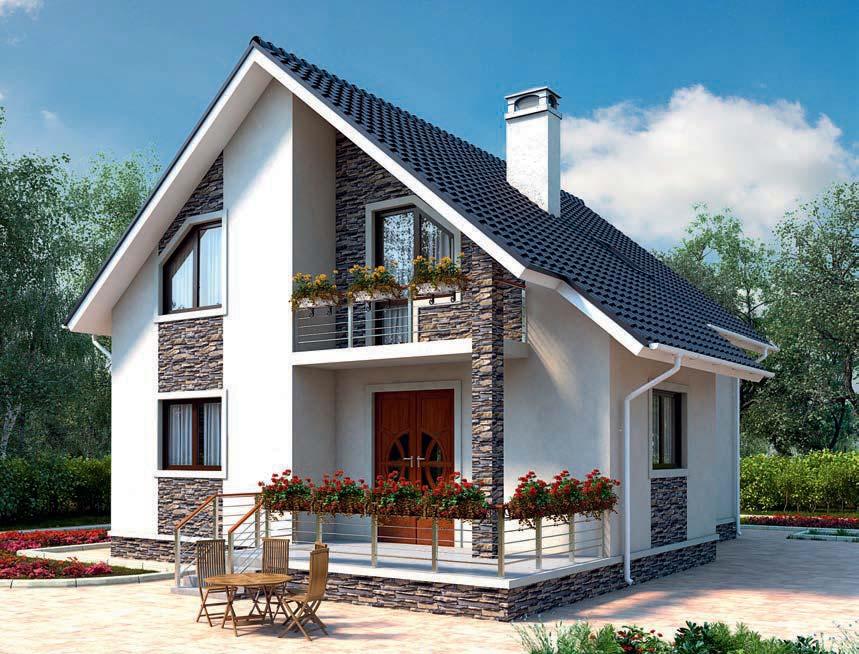 проект дома из газобетона AS-2123 строительство под ключ за 2 350 000 рублей