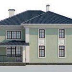 проект дома AS-2136 вид сзади