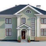 проект дома AS-2136 вид спереди