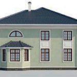 проект дома AS-2136 вид слева