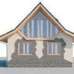 проект дома AS-2168-2 вид сзади