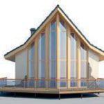 проект дома AS-2168-2 вид спереди