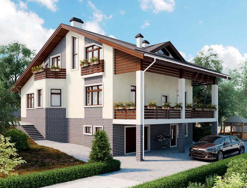 проект дома из газобетона AS-2198 строительство под ключ за 5 170 000 рублей