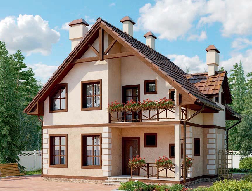 проект дома из газобетона AS-2231 строительство под ключ за 2 060 000 рублей