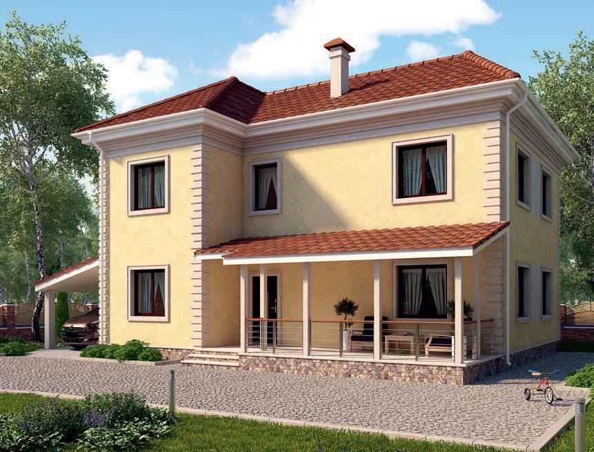 проект дома из газобетона AS-2240 строительство под ключ за 3 130 000 рублей