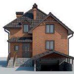 проект дома AS-2241 вид спереди