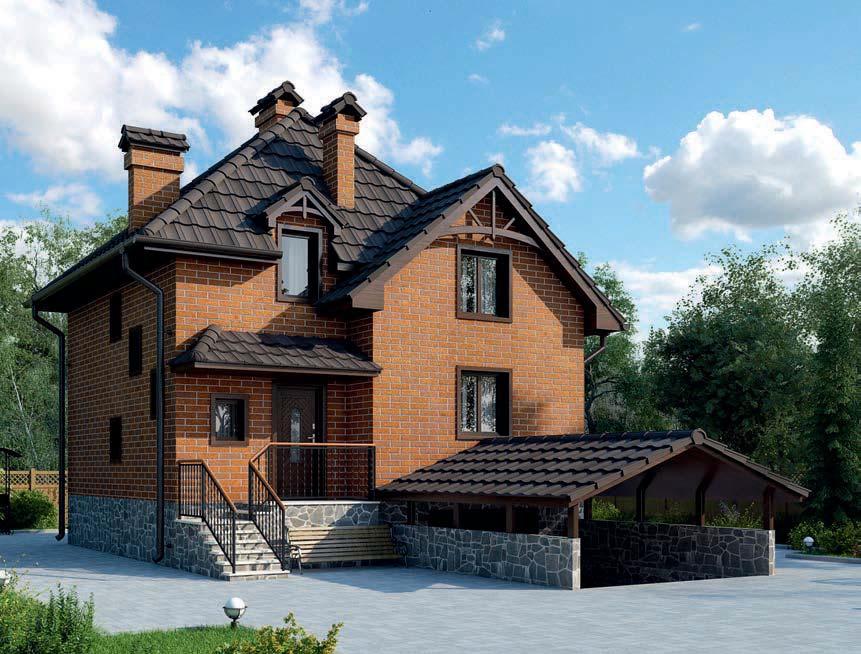 проект дома из газобетона AS-2241 строительство под ключ за 2 540 000 рублей