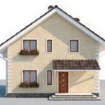 проект дома AS-2243 вид спереди