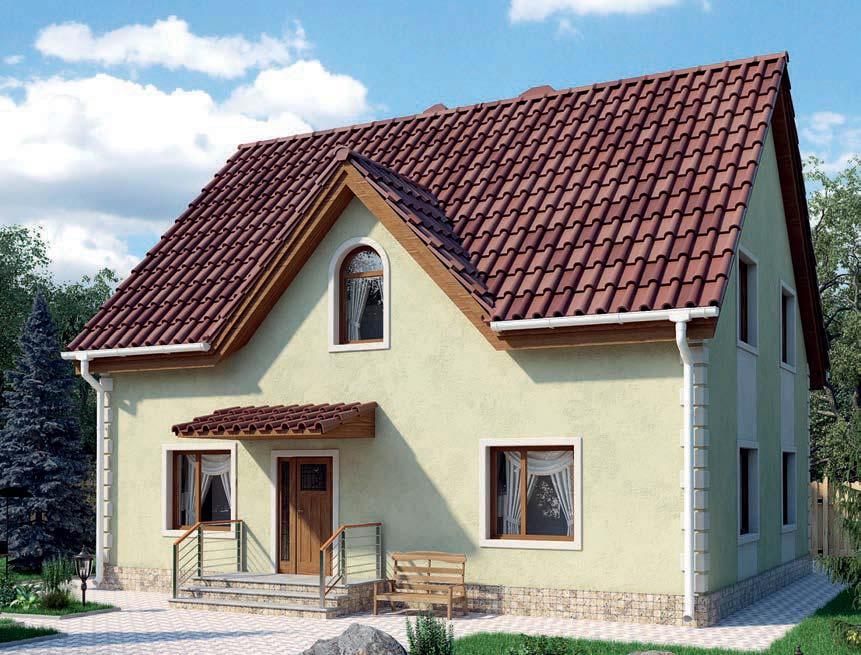 проект дома из газобетона AS-2244 строительство под ключ за 2 590 000 рублей