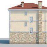 проект дома AS-2247 вид сзади
